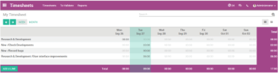 timesheets purple banner