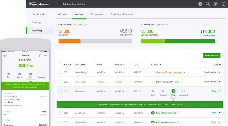 Quickbooks cloud-based accounting