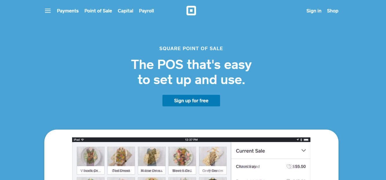 Square pos system