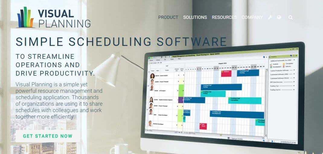 visual planning simple scheduling software