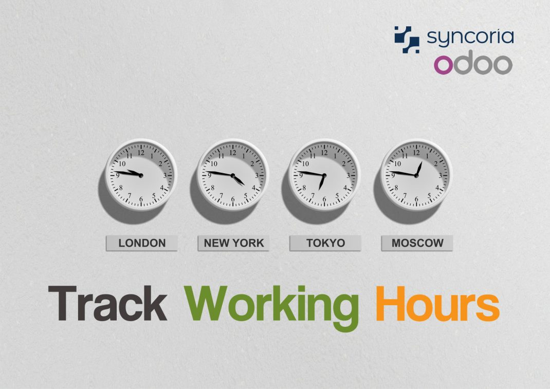 Track working hours with Odoo timesheet